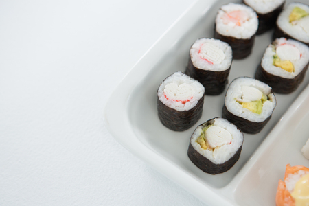 susi: Close-up of sushi served on plate Stock Photo