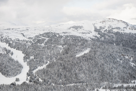 View of snow covered mountains during winter