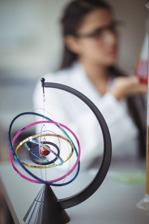 Close-up of orrery in laboratory at school Stock Photo