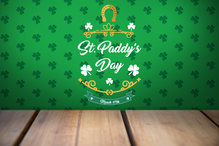 17th march: Digital composite of Patricks day greeting