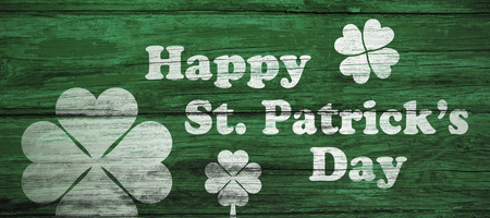 panelling: Digital composite of Patricks day greeting
