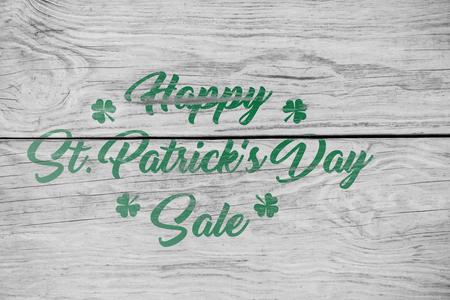 Digital composite of Patricks day greeting