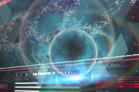 aplaudiendo: Diseño de tecnología azul y negro contra diagrama de genes en fondo darkred 3d Foto de archivo