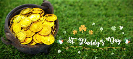 Print against high angle shot of golden coins in bucket