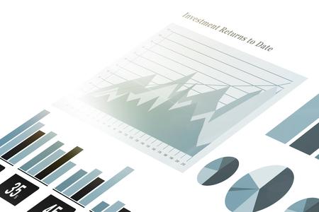 representations: Digitally composite image of graph representations Stock Photo