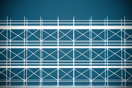 3d illustrative image of gray metal grate against dark blue background