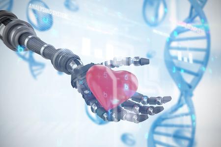 medical headwear: Virus background against blue chromosome 3d