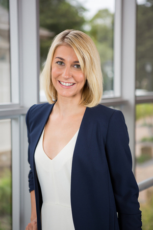 Portrait of a beautiful businesswoman standing in conference centre Stock Photo