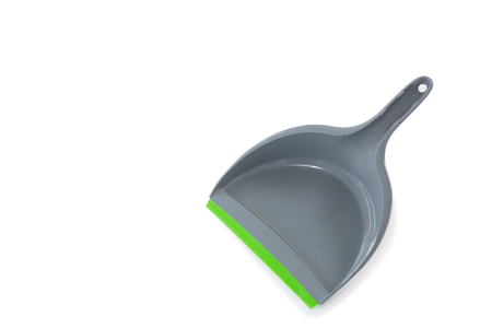 Close-up of dustpan against white background Stock Photo
