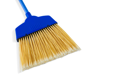 Close-up of broom against white baclground Stock Photo