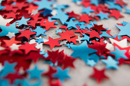 Close-up of star shape decoration with 4th July theme Stock Photo