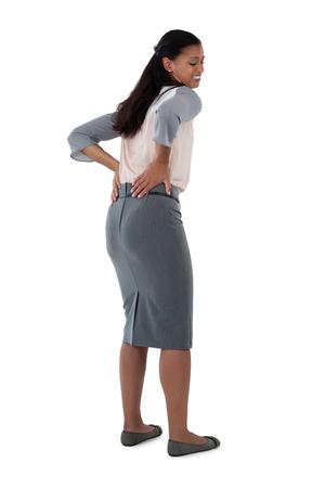 back ache: Close-up of businesswoman having an backache Stock Photo