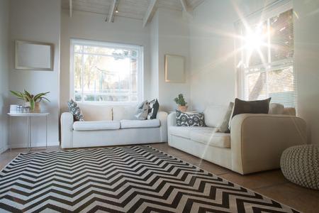 Interior view of luxury and modern home Lizenzfreie Bilder