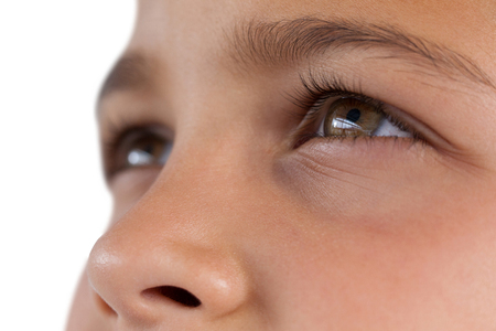 Close-up of boy with hazel eyes Stock Photo