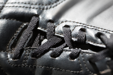Close-up of black cleat