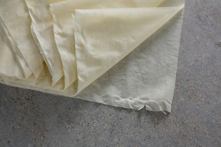 Close-up of wax paper on table