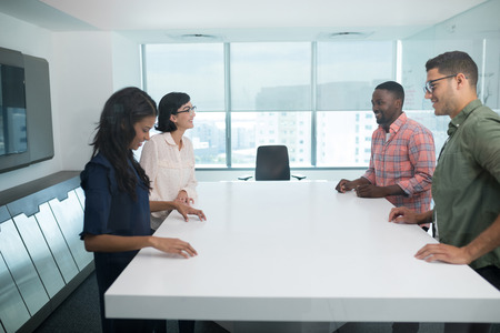 Business executives in boardroom at office