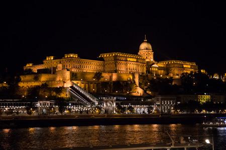 buda: The Buda Castle of Budapest, Hungary at night