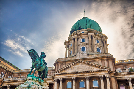 buda: The Buda Castle. Budapest, Hungary. old royal castle Editorial