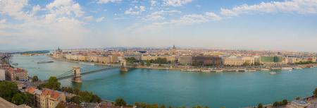 cielo azul: Panorama of the city of Budapest, Hungary