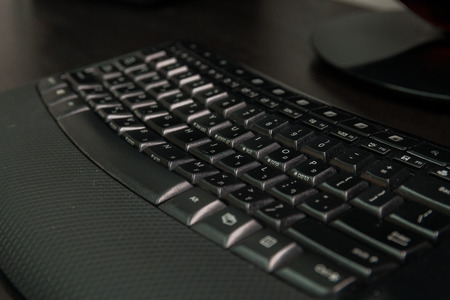 english letters: Keyboard with letters in Hebrew and English - Wireless keyboard