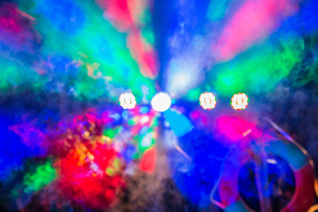 Abstract blurred bokeh party lights. Stock Photo