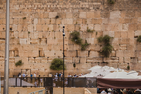 western wall: Jerusalem, Israel - May 9, 2016: 360 degrees video cameras system in filmed production at the Western Wall in the old city of Jerusalem Israel.