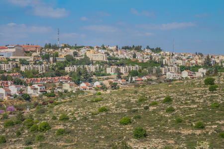 Ariel city view. Ariel is a city that located inside the west bank of Israel. 版權商用圖片