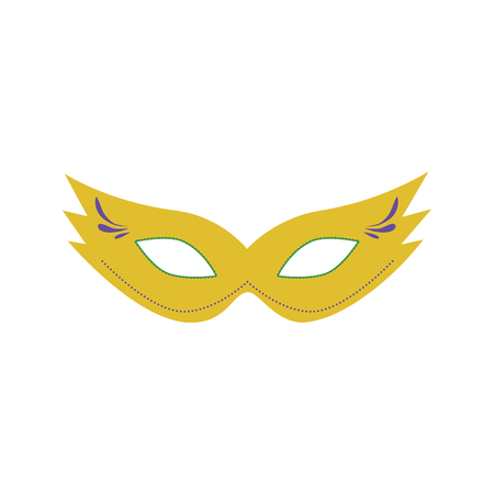 Carnival mask flat design icon. Vector eps10 illustration.