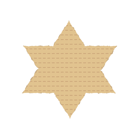 Passover holiday flat design icons of matzot in star of david shape.
