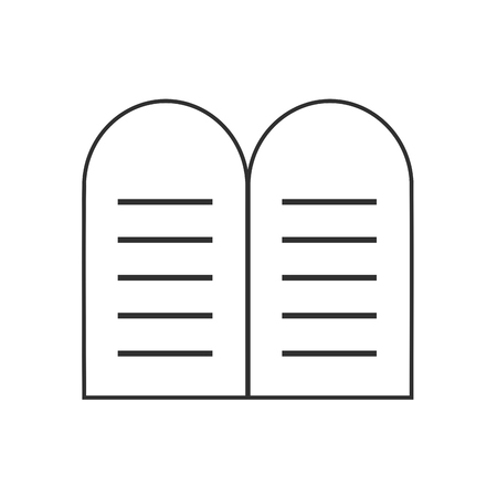 Tablets of the Law icon in black flat outline design. Vector Illustration