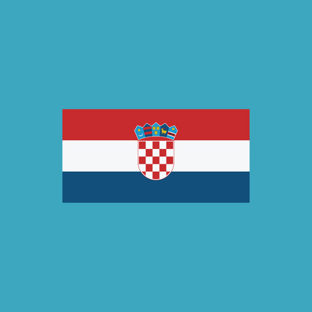 Croatia flag icon in flat design. Independence day or National day holiday concept. Stock Vector - 112387254