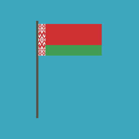 Belarus flag icon in flat design. Independence day or National day holiday concept.