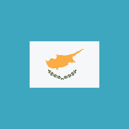 Cyprus flag icon in flat design. Independence day or National day holiday concept. Vettoriali