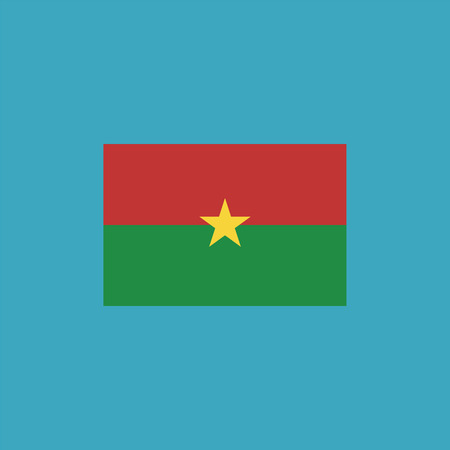 Burkina Faso flag icon in flat design. Independence day or National day holiday concept. Stock Illustratie