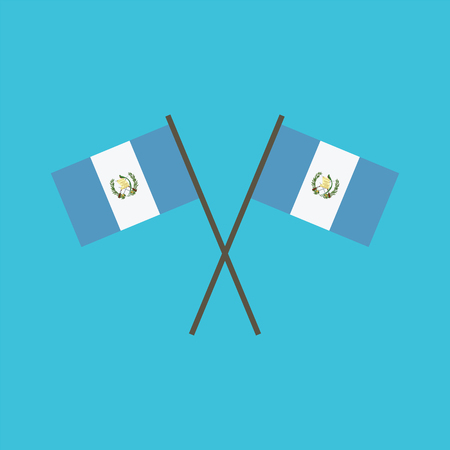 Guatemala flag icon in flat design. Independence day or National day holiday concept.