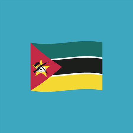 Mozambique flag icon in flat design. Independence day or National day holiday concept. Stok Fotoğraf - 112314477