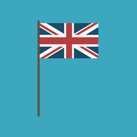 United Kingdom flag icon in flat design. Independence day or National day holiday concept.