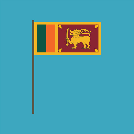 Sri Lanka flag icon in flat design. Independence day or National day holiday concept.