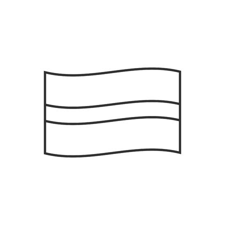 Latvia flag icon in black outline flat design. Independence day or National day holiday concept.