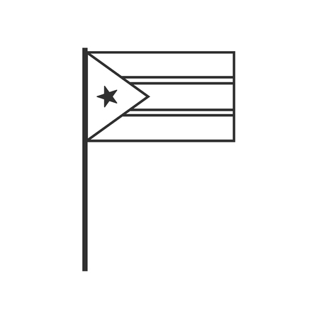 South Sudan flag icon in black outline flat design. Independence day or National day holiday concept. Illustration