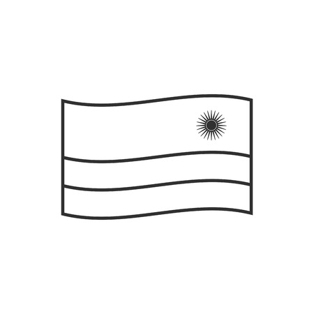 Rwanda flag icon in black outline flat design. Independence day or National day holiday concept.