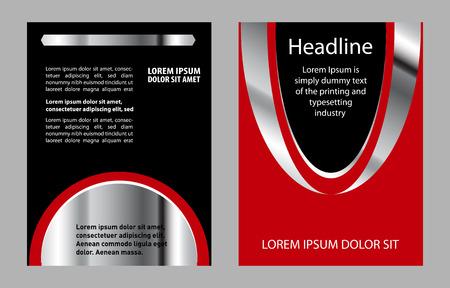 a5: Flyer leaflet booklet layout. design template Illustration