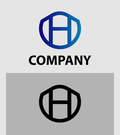 h: Letter H Abstract vector logo symbol
