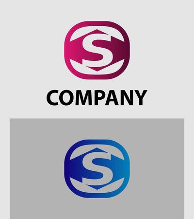 sch: An attractive Letter S logo symbol vector