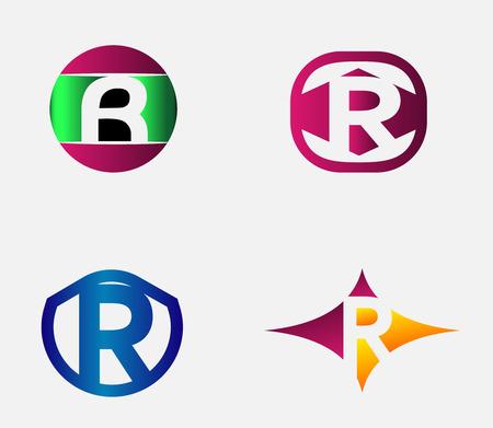 Letter R alphabet vector logo design template element