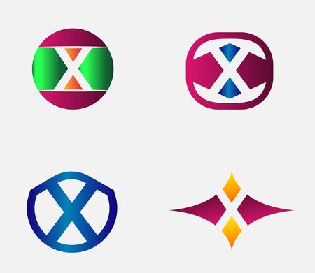 Vector alphabet Letter X Logo template design element