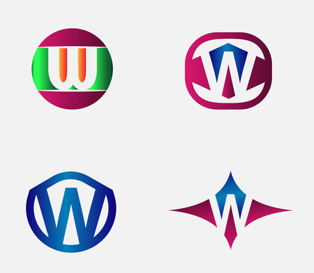 labirinth: Letter W alphabet vector logo design template element