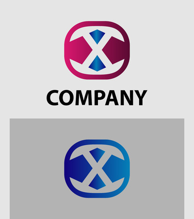 xy: Letter X icon logo design template elements. Vector color sign