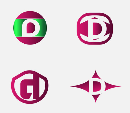 d: Letter D logo template. Abstract icon Illustration